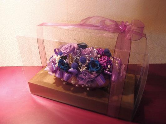 紫系のプリザーブドフラワー