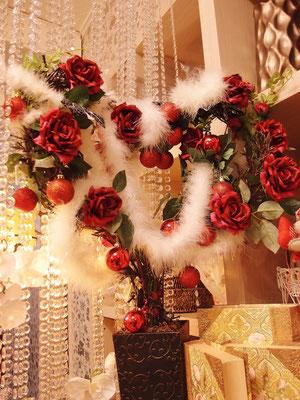 花ののぐちのバレンタインデーディスプレイ