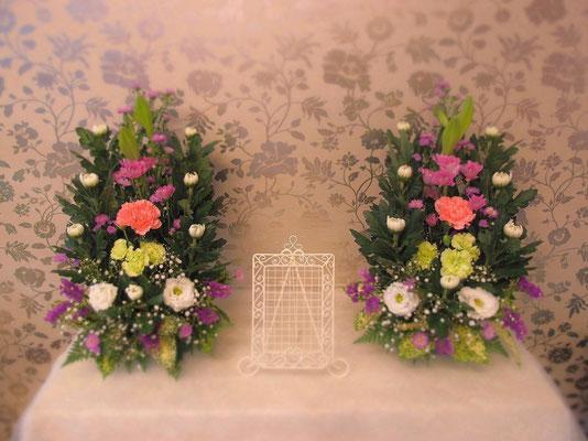 ご自宅用の生花祭壇