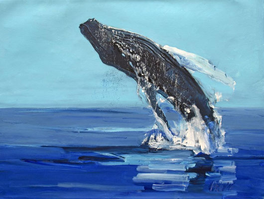 whale watchting Cape Cod USA 100x130cm