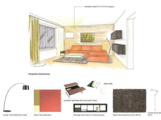 Beratung für ein Wohnzimmer