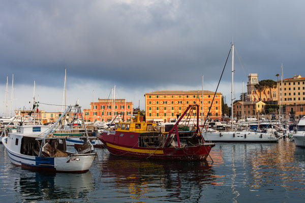 Santa Magherita: The port.