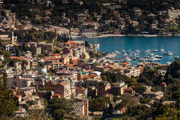 On our way from Santa Magherita, which you see, to Portofino.