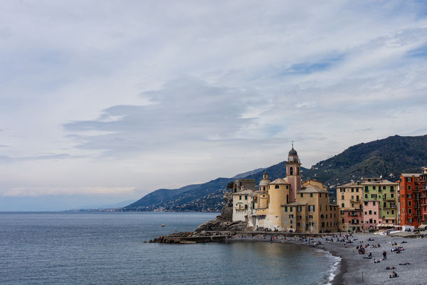 Camogli with its fascinating old town.
