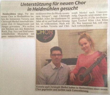 Ein neuer Chor für Wahlstedt