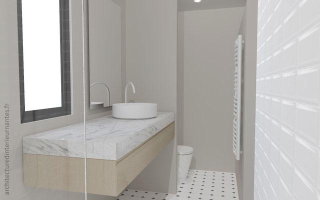 Rénovation création d'une salle de bain
