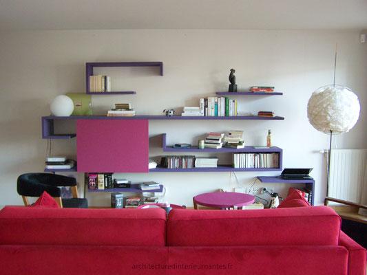 Meuble TV bibliothèque sur mesure