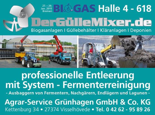 Biogas Fachverband e.V. Jahrestagung Bremen 2015 Agrar-Service Grünhagen GmbH & Co. KG