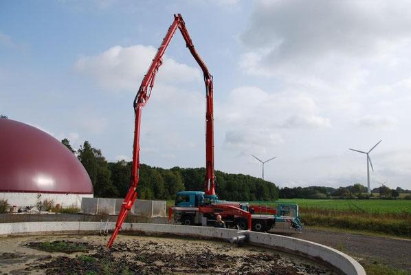 Der Güllemixer im Einsatz auf einer Biogasanlage