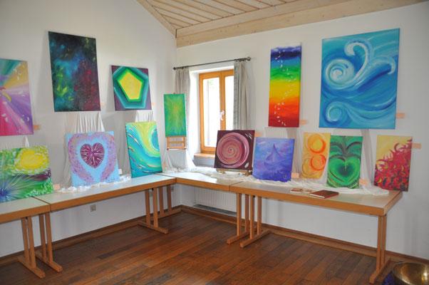 Ausstellung beim Kunsthandwerkermarkt Ast. 2015.