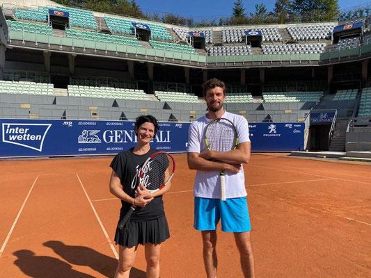 Tenniscamp in Kitzbühel mit Roger Federer Bezwingr Daniel Brands