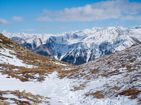 Blick auf die Gipfel Südtirols