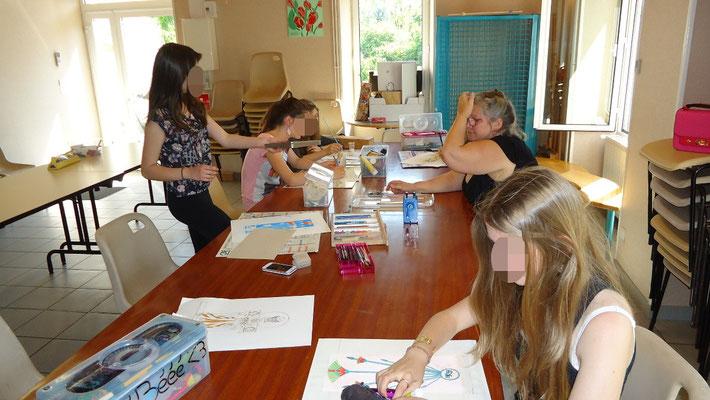 Déoulement d'un cours peinture à Mornac