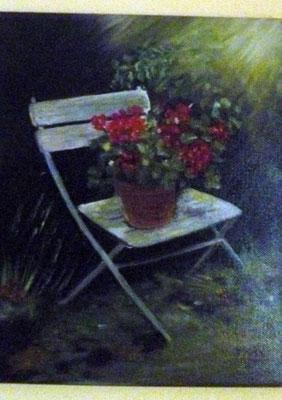 Chaise au jardin