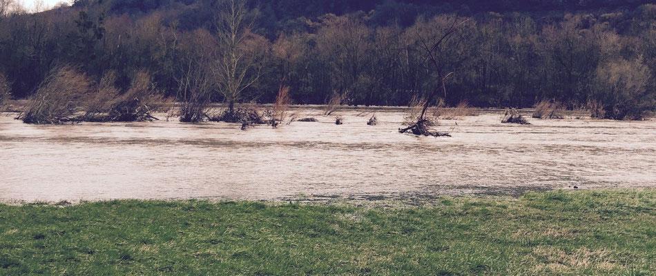 das Hochwasser geht zurück...