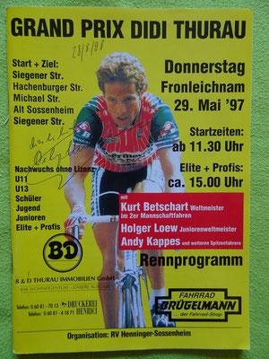 Die 2. Auflage des Grand Prix Didi Thurau  1997