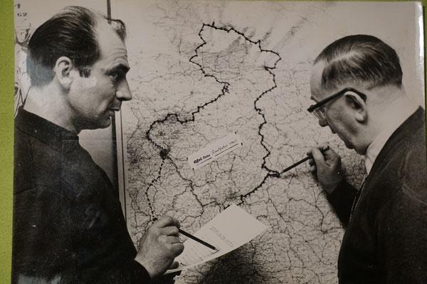 Die Streckenplaner der 1962 D-Tour