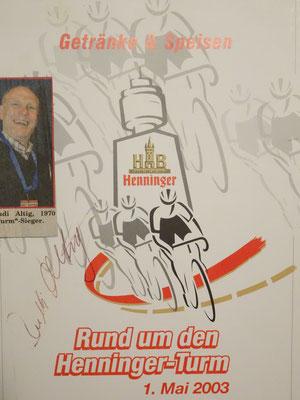 Auch Rudi Altig hatte wohl Hunger und Durst