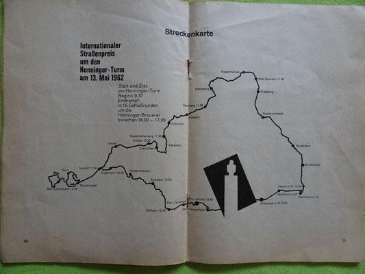 Die Strecke auf der Karte