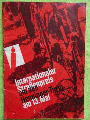 """Das erste Rennprogramm zu """"Rund um den Henninger Turm"""" im Jahr 1962"""