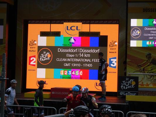 """Die erste Etappe - 14km """"Contra la montre"""" (Einzelzeitfahren - gegen die Uhr)"""