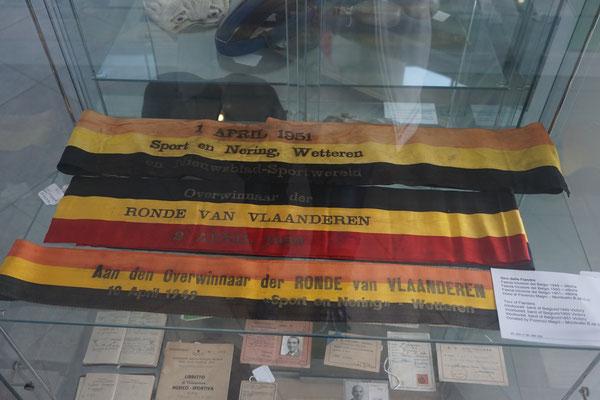 Magni´s Siegerschleifen der Flandern-Rundfahrten 1949 - 1951