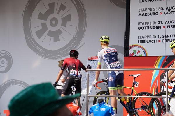 Geraint Thomas - Tour -Sieger von 2018 und dieses Jahr 2. der Grand Boucle