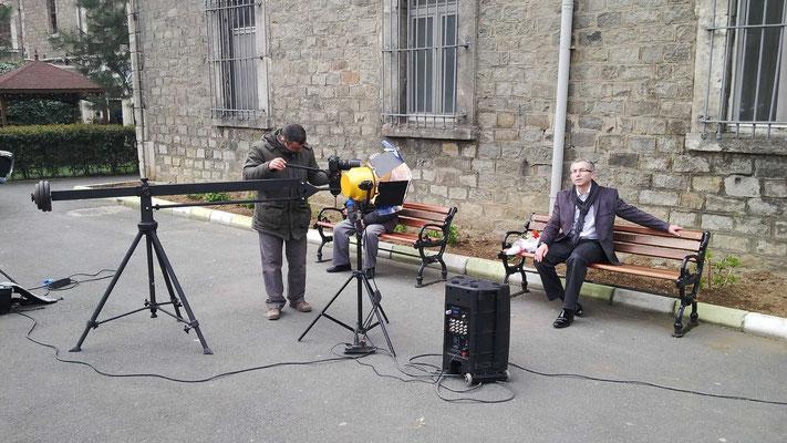 Bir Gül Misali eserinin Klip çekimlerinden... Sahne Arkası... Yer: İstanbul Darülaceze