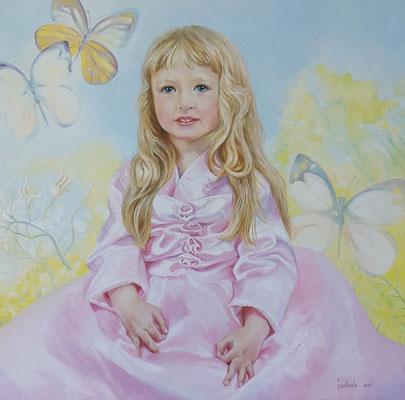 Portrait, Öl auf Leinwand, 70x70 cm