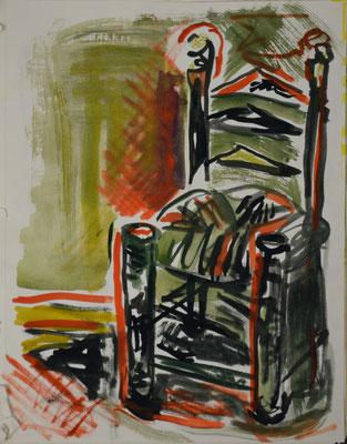 """DemocKorsy"" IV (watercolour on paper). Study."
