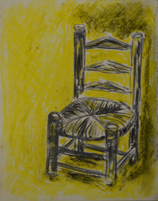 """DemocKorsy"" I (pastel and charcoal on paper). Study."