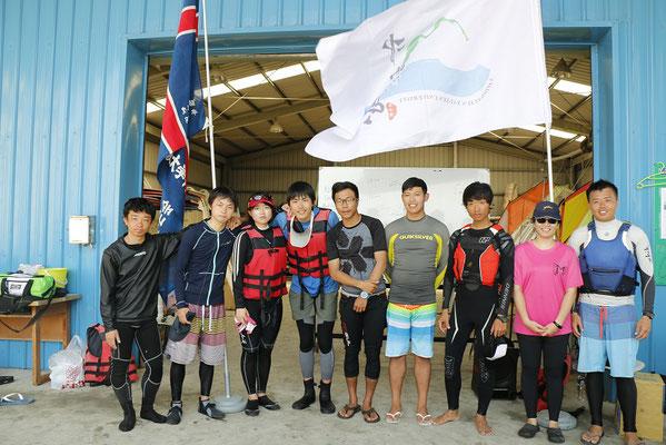 ヨット定期戦 両チームレースメンバー