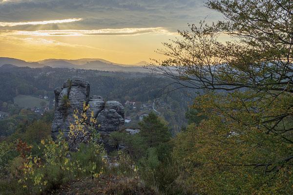 Christa Roßberg Morgenstimmung Sächsische Schweiz 2018