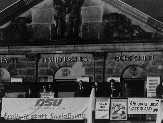 Renate Beutel 1990 Ungewohnte Wahlveranstaltung