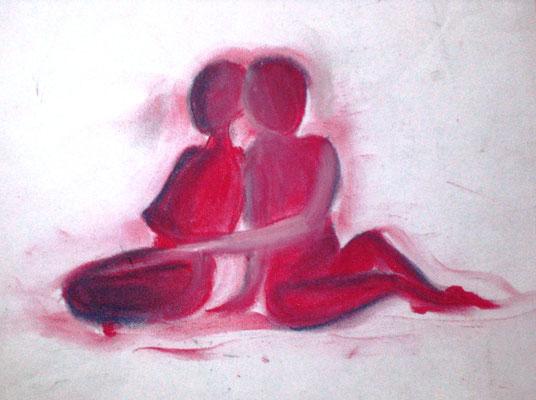 Zuneigung (Pastellkreide 30 x 27,5)