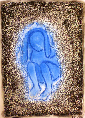 Die Hülle (Pastellkreide 29,7 x 42 )