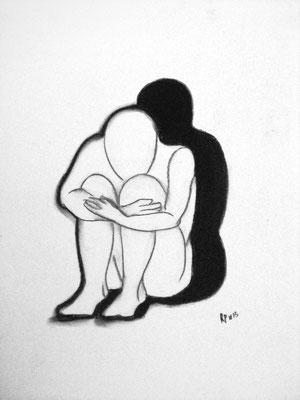 Einsamkeit (Pastellkreide 29,7 x 42)