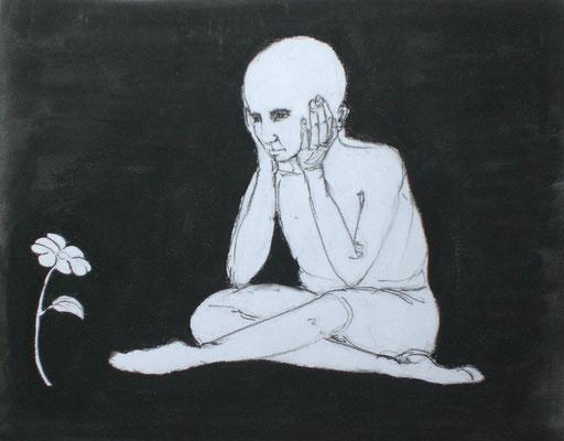 Hoffnung (Pastellkreide, Kohle 40 x 30)