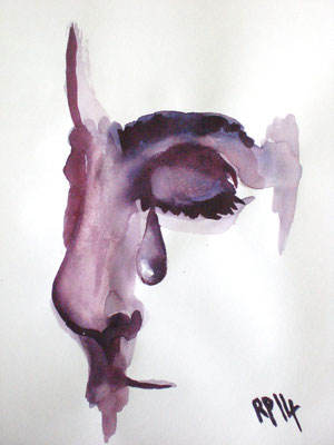 Träne (Aquarell 24 x 40)