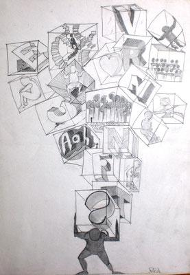 Vernunft (Bleistift 59,5 x 42)