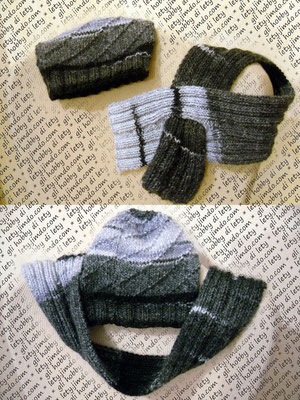sciarpa e cappello a maglia - schema: http://www.ravelry.com/patterns/library/paulas-scarfette