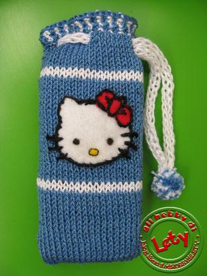 portacellulare in lana a maglia rasata con applicazione in feltro di Hello Kitty