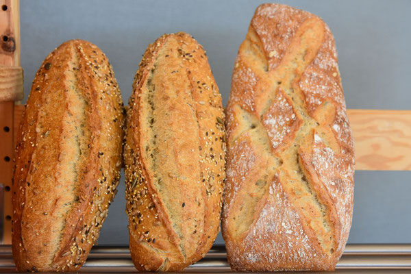 des pains de spécialité, 6 céréales, rustique...