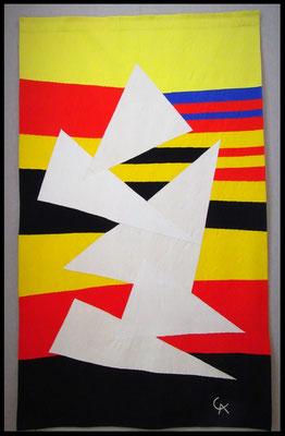 Les triangles blancs de Alexandre Calder 1970