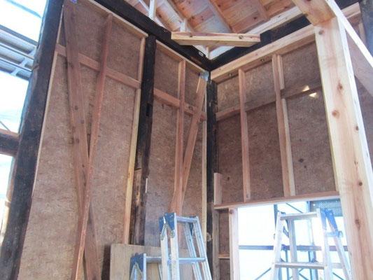 【古民家移築までの過程】筋交と面材で地震に強い家にします