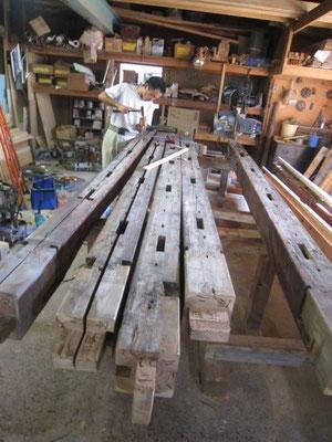 【古民家移築までの過程】古材を加工