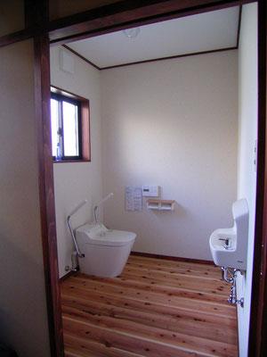 トイレも今までと違い あたたかく