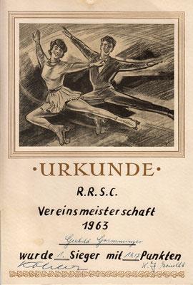 Erster Platz: Gerhild Krichbaum (geborene Grimminger) hat uns diese Urkunde gesendet.