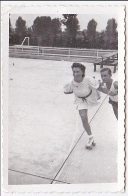Rosel Seebach und Heinz Knopp beim Training.