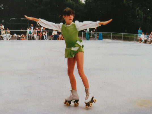 Tanja Großmann bei einem Wettkampf am Sommerdamm.